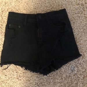 black BDG jean shorts